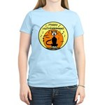 Halloween Black Cat Women's Light T-Shirt