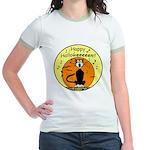 Halloween Black Cat Jr. Ringer T-Shirt