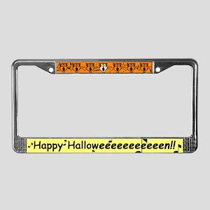 Halloween Black Cat License Plate Frame