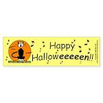 Halloween Black Cat Bumper Sticker