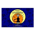 Halloween Black Cat Rectangle Sticker