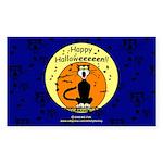 Halloween Black Cat Rectangle Sticker 50 pk)