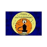 Halloween Black Cat Rectangle Magnet