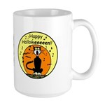 Halloween Black Cat Large Mug