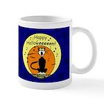 Halloween Black Cat Dark Mug