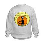 Halloween Black Cat Kids Sweatshirt