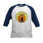 Halloween Black Cat Kids Baseball Jersey