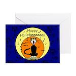 Halloween Black Cat Greeting Card