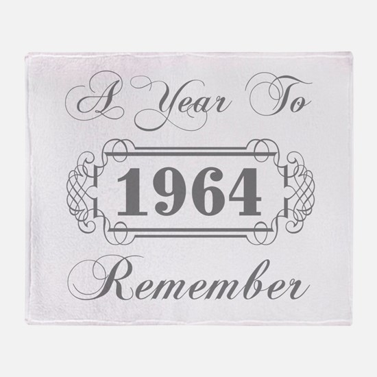 1964 A Year To Remember Throw Blanket