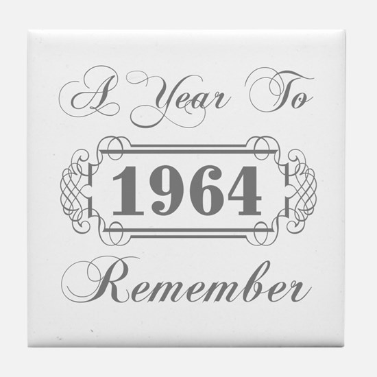 1964 A Year To Remember Tile Coaster
