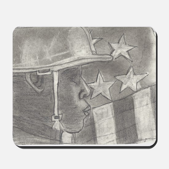 African American Soldier Mousepad
