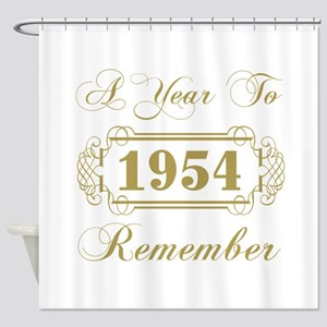 1954 A Year To Remember Shower Curtain