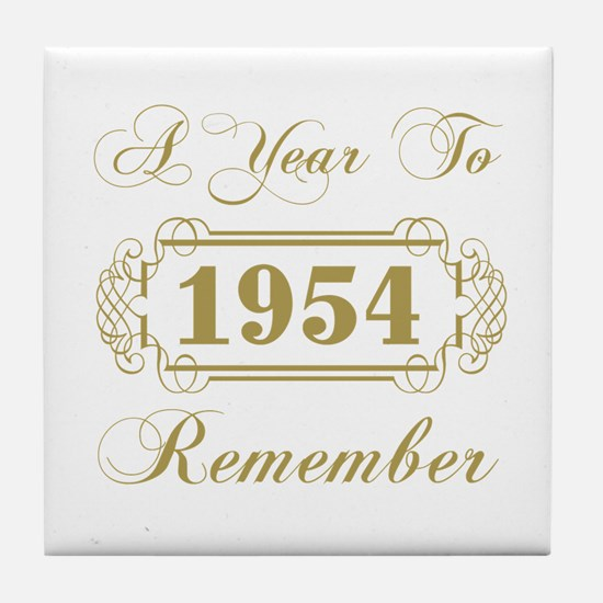 1954 A Year To Remember Tile Coaster