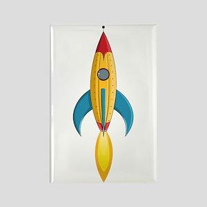 Rocket Ship Rectangle Magnet