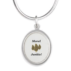 Morel Junkie Silver Oval Necklace