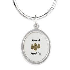 Morel Junkie Silver Oval Necklace