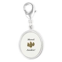 Morel Junkie Silver Oval Charm
