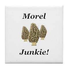 Morel Junkie Tile Coaster
