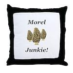 Morel Junkie Throw Pillow