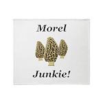 Morel Junkie Throw Blanket