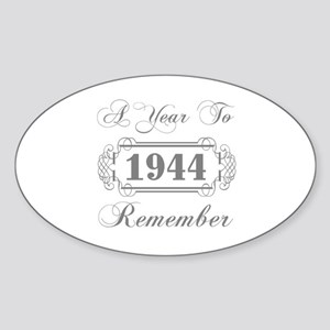 1944 A Year To Remember Sticker (Oval)