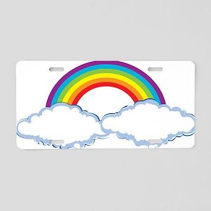 rainbow1 Aluminum License Plate