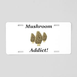 Mushroom Addict Aluminum License Plate