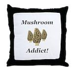 Mushroom Addict Throw Pillow