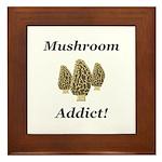 Mushroom Addict Framed Tile