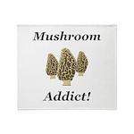 Mushroom Addict Throw Blanket