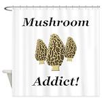 Mushroom Addict Shower Curtain