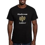 Mushroom Addict Men's Fitted T-Shirt (dark)