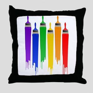 rainbowpainter Throw Pillow