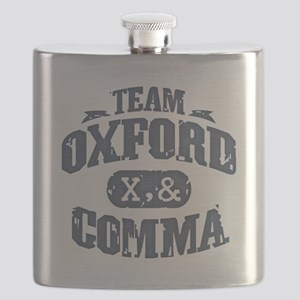 Team Oxford Comma Flask