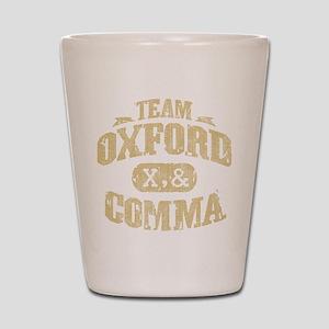 Team Oxford Comma Shot Glass