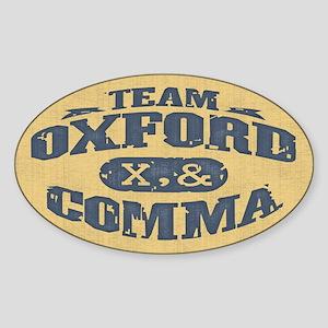 Team Oxford Comma Sticker (Oval)