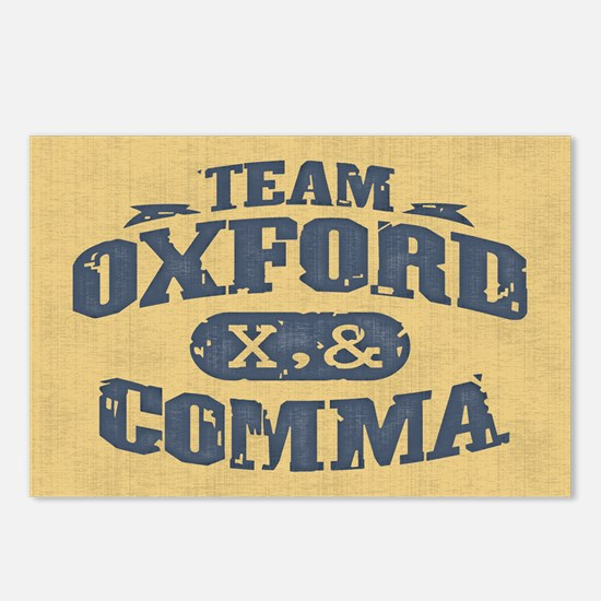 Team Oxford Comma Postcards (Package of 8)