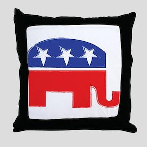 repubelephant1 Throw Pillow