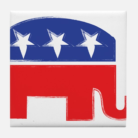 repubelephant1 Tile Coaster