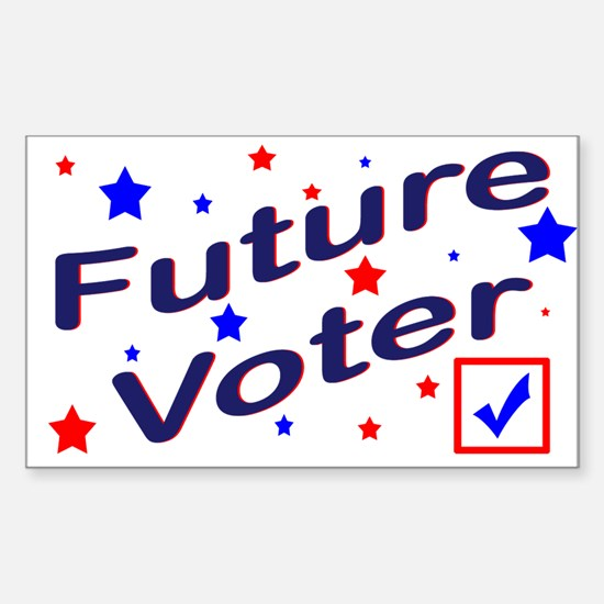 Future Voter Light Rectangle Decal