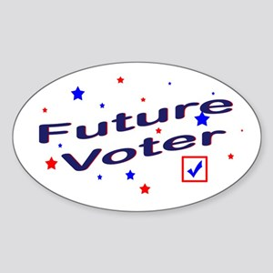 Future Voter Light Oval Sticker