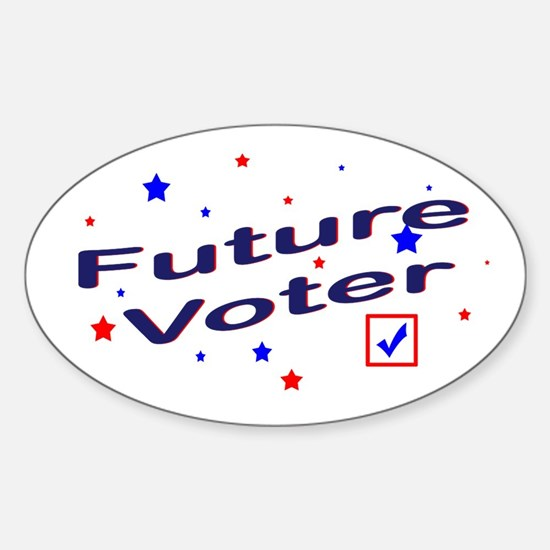 Future Voter Light Oval Decal