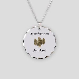 Mushroom Junkie Necklace Circle Charm