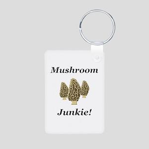 Mushroom Junkie Aluminum Photo Keychain