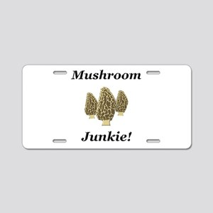 Mushroom Junkie Aluminum License Plate