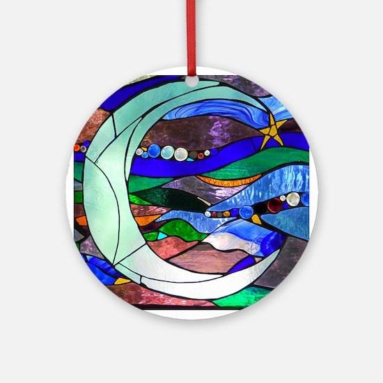 Crescent Moon Ornament (Round)