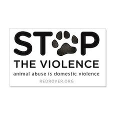 STOP THE VIOLENCE: animal abuse i Wall Decal