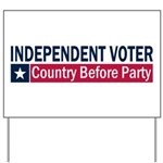 Independent Voter Blue Red Yard Sign