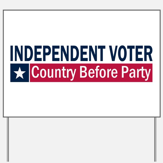 Independent Voter Blue Red Yard Sign