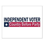 Independent Voter Blue Red Small Poster